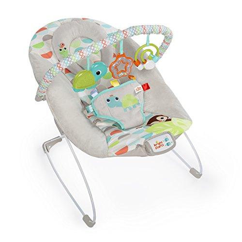 Bright Starts vibrierende Babywippe, Happy Safari mit Melodien, Lautstärkeregeler, abnehmbarer Kopfstütze...