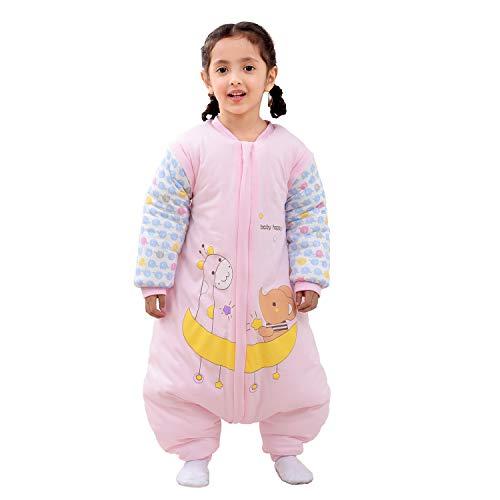 Baby Schlafsack mit Beinen Warm gefüttert Winter Langarm Winterschlafsack mit Füssen,Junge Mädchen Unisex...