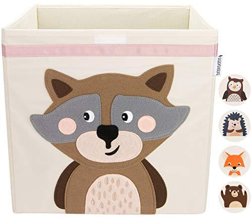GLÜCKSWOLKE Kinder Aufbewahrungsbox I Spielzeugkiste mit Deckel und Griffe für Kinderzimmer I Spielzeug Box...