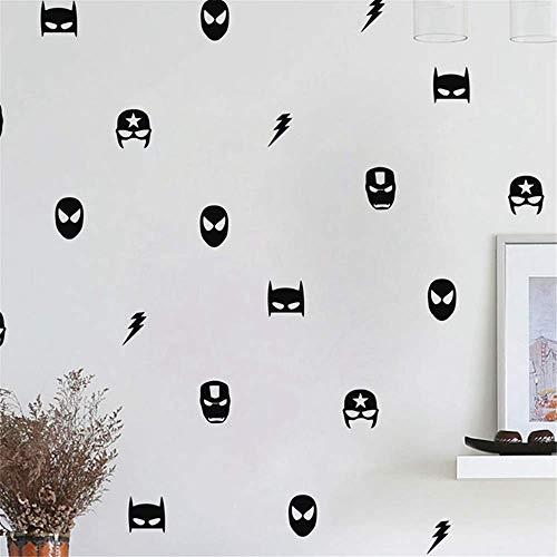 Wandsticker Disney, Schwarz und Weiß, für Toilette, Silhouetten, für Damen und Herren, für WC,...