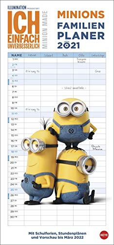 Minions Familienplaner - Kalender 2021