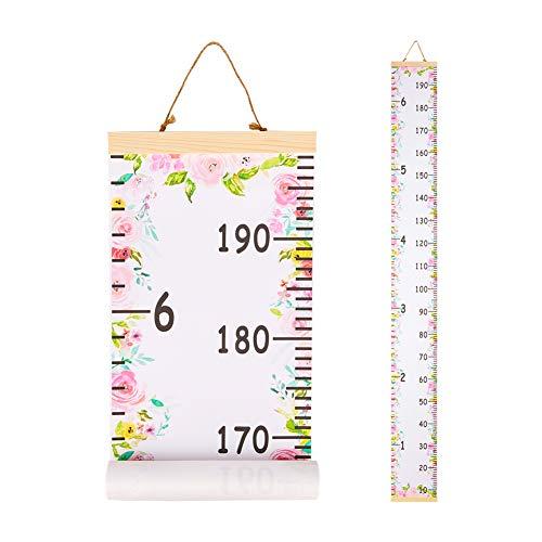 Beinou Wachstum Messlatte Dekorative Messlatten für Kinder Aufrollbare Messleiter Lineal Messtabelle für...