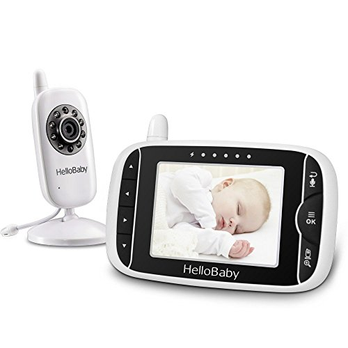 HelloBaby HB32 3.2' Digital Funk TFT LCD Drahtloser Video baby Monitor mit Digitalkamera,...