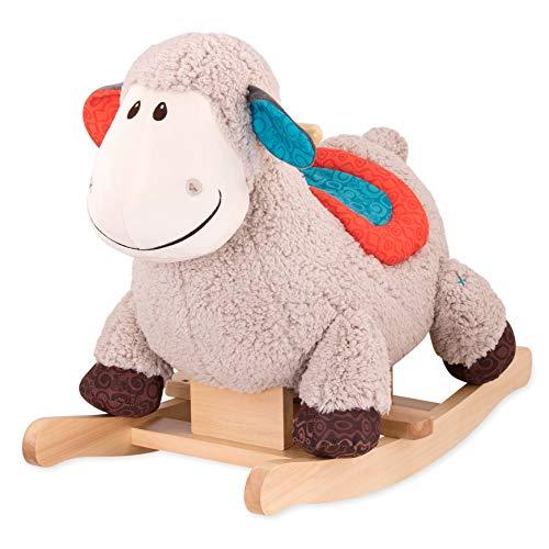 B. toys Schaukelpferd Schaf aus weichem Plüsch und hochwertigem Holz– BPA-freies Schaukeltier zum Aufsitzen...