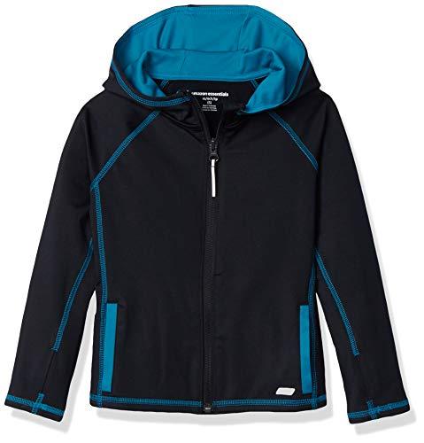 Amazon Essentials Mädchen-Jacke mit durchgehendem Reißverschluss, Black, US 4T (EU 104–110)