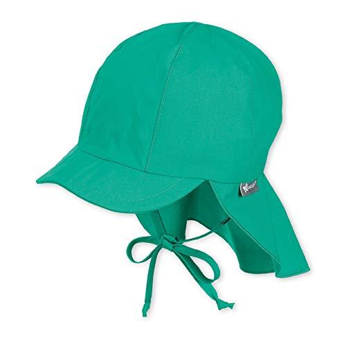 Sterntaler Schirmmütze mit Bindebändern und Nackenschutz, Alter: 2-4 Jahre, Größe: 53, Grün (Pfefferminz)