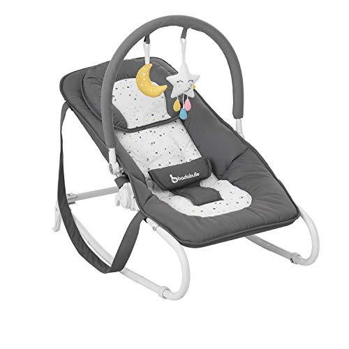 Badabulle Easy Moonlight Babywippe, mit integrierter Kopfstütze, 5-fach verstellbarer Rückenlehne,...