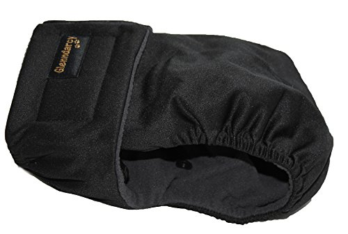 Glenndarcy Weibliche Hundewindeln | Wasserdichtes Stoff | Black XL Pants & 2 Washable Pads