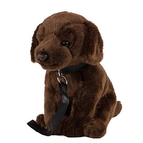Teddys Rothenburg Kuscheltier Labrador mit Leine 30cm mit Schwanz Plüschhund Stoffhund