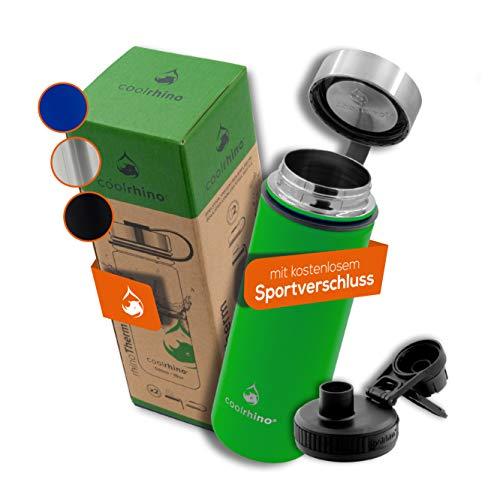 coolrhino leichte Edelstahl Trinkflasche 500ml / 1l Auslaufsicher, Kohlensäure geeignet, Isolierflasche für...