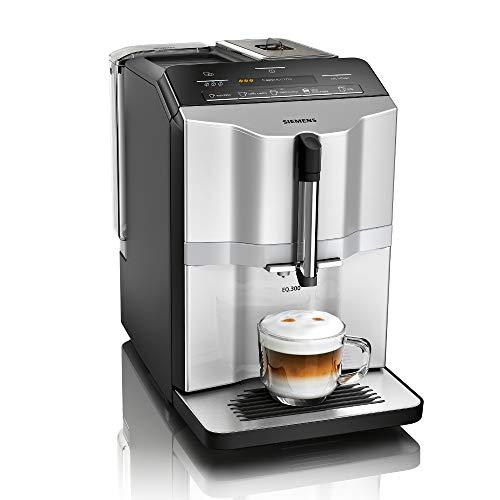 Siemens EQ.300 Kaffeevollautomat TI353501DE, kompakte Größe, einfache Bedienung, 1.300 Watt, silber