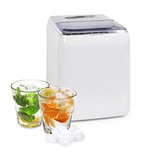 Klarstein Coolio Eiswürfelmaschine, Klareis, 20 kg Eis pro Tag, Wassertank: 2,8 l, Touch-Bedienfeld, 2...