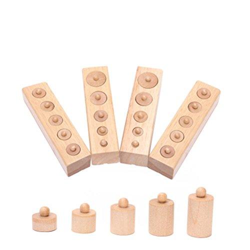 ROSENICE Pädagogisches Spielzeug aus Holz Montessori Zylinder Buchse frühe Entwicklung Sinne Geschenk...