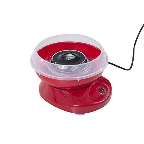 HOMCOM Zuckerwattemaschine Zuckerwattegerät Zuckerwatte Maschine (Modell 1/Rot)