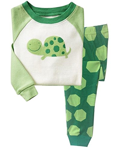 Little Hand Jungen Zweiteiliger Schlafanzug Baumwolle Lange Nachtwäsche Tier Schildkröte Kinder Pyjama,...