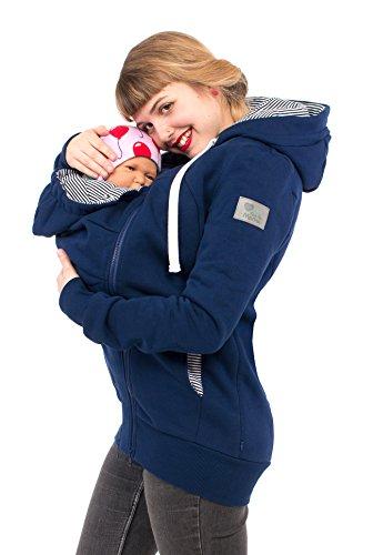 Viva la Mama Schwangerschaftsmode Damenjacke mit Baby Tragejacke für Baby Mamajacke Baumwolle Kapuzenjacke -...