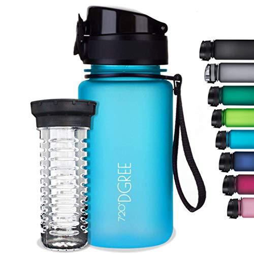 """720°DGREE Trinkflasche """"uberBottle"""" softTouch +Früchtebehälter - 500ml - Auslaufsicher, BPA-Frei - Für..."""