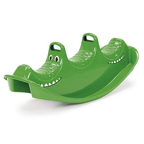 Dantoy 3-Sitzer Wippe und Schaukelpferd, robuster Kunststoff Hergestellt in Dänemark – Grünes Krokodil