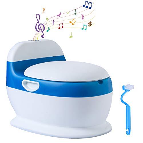 Voilamart Kinder Töpfchen Toilettentrainer mit Musik Kindertopf Lerntöpfchen für Kleinkinder von 6 Monaten...
