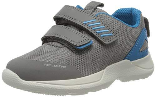 Superfit Baby Jungen Rush Sneaker, Grau (Hellgrau/Blau 25), 24 EU
