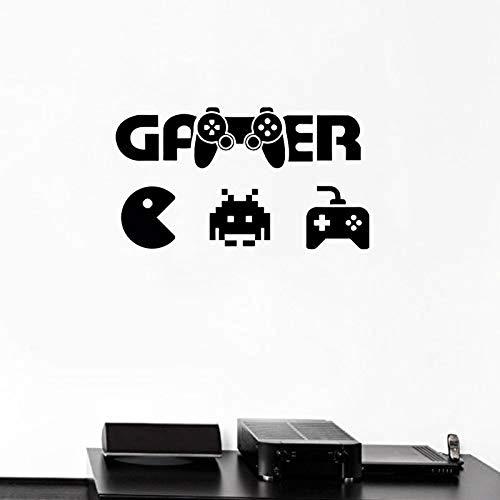 wandaufkleber art deco wandbild applique abnehmbare wasserdichte tapete Wandtattoo Gamer Art Decor Controller...
