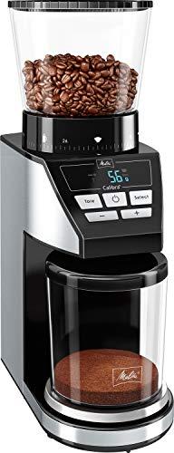 Melitta 1027-01 SST BK elektrische Kaffeemühle Calibra mit Kegelmahlwerk und LCD-Display, sowie integrierter...