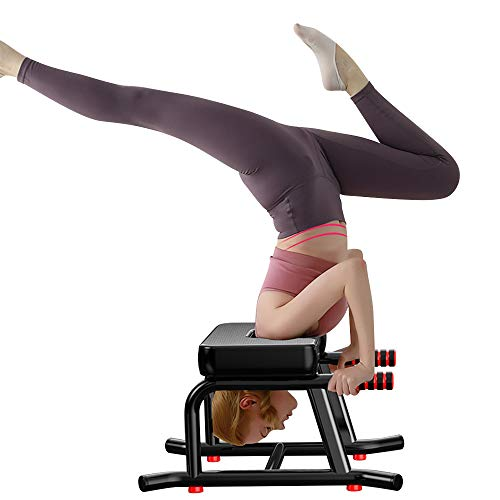Beaspire Yoga Kopfstandhocker, Stabiler Yoga Kopfstandstuhl mit PU-Kissen und verlängertem Handlauf, zum...