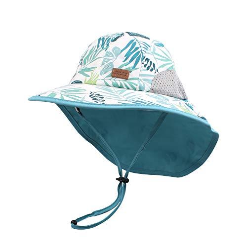 Pesaat Baby Sonnenhut Mädchen Mit UV-Schutz Sonnenmütze Baby Junge Mit Nackenschutz Sommermütze Kinder...