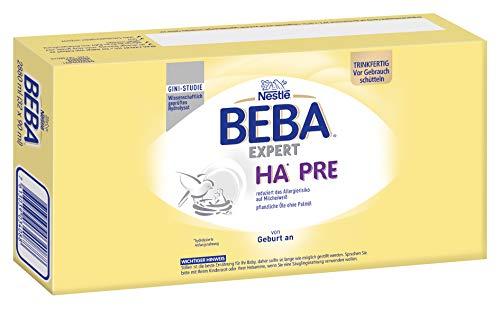 Nestlé BEBA EXPERT HA PRE Hypoallergene Säuglings-Anfangsnahrung, trinkfertig, von Geburt an, 32er Pack (32...