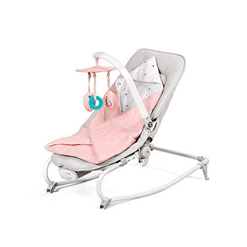 Kinderkraft Babywippe FELIO 3 in 1, Babywippe, Babyliege, Babyschaukel, Wippe, Schaukel, Babytuch mit...