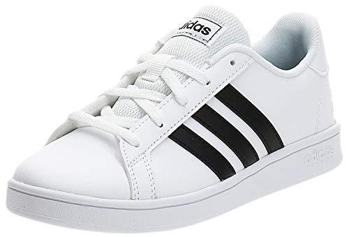Adidas Unisex-Kinder Grand Court K Tennisschuh, FTWR White/core Black/FTWR White, 37 1/3 EU