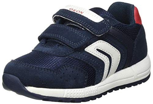 Geox Baby-Jungen B ALBEN Boy D Sneaker, Navy/White, 25 EU