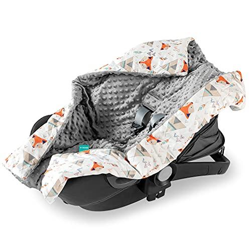 Navaris Einschlagdecke für Babyschale - universal Baby Decke für u.a. Maxi Cosi Römer Cybex Autositz -...