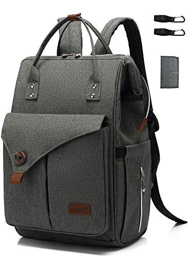 Wickelrucksack groß Baby Wickeltasche mit Wickelunterlage Windeltasche multifunktional Babytasche Picknik...