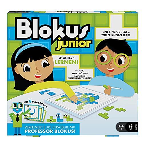 Mattel Games GKF59 - Blokus Junior Kinderspiel und Lernspiel, geeignet für 2 Spieler, Kinderspiele ab 5...