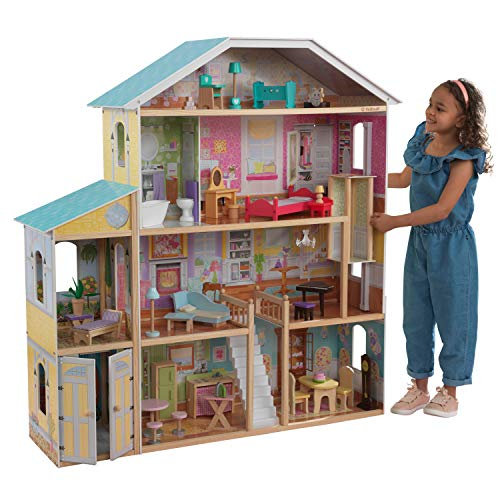 KidKraft 65252 Puppenhaus Majestic Mansion, bunt [Exklusiv bei Amazon]