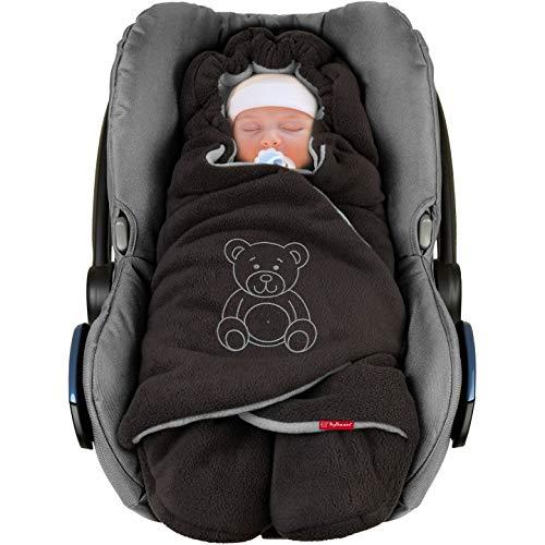 ByBoom Baby Winter-Einschlagdecke'Das Original mit dem Bären', Universal für Babyschale, Autositz, z.B. für...