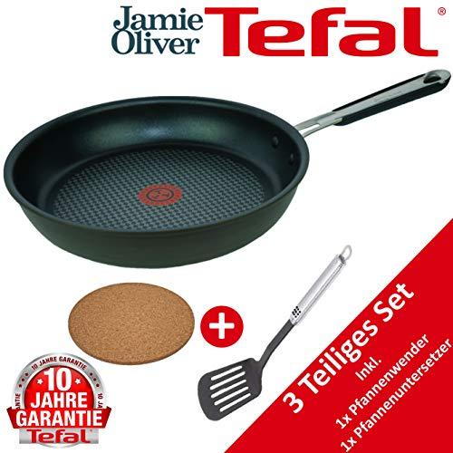 Tefal B35703 Jamie Oliver Pfanne 28cm, TESTSIEGER, Induktion geeignete Bratpfannen, Antihaft-beschichtet...