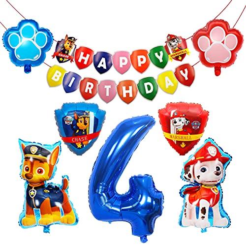 HONGECB Paw Patrol XXL Folienballon, Luftballon Geburtstag Dekoration Set, Paw Patrol Hund Kindergeburtstag...