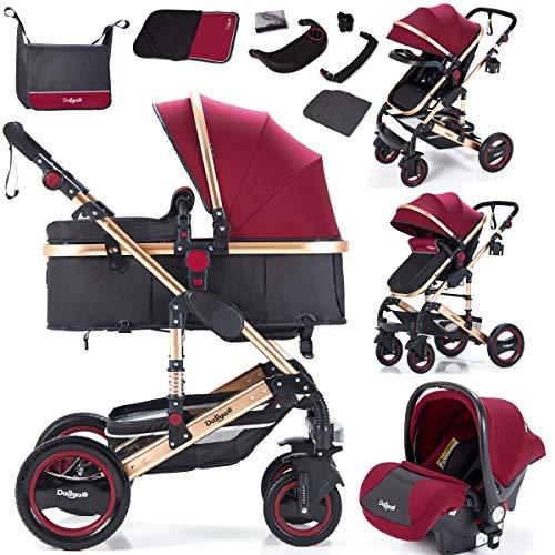 Daliya Bambimo 3 in 1 Kinderwagen - Kombikinderwagen Riesenset 15-Teilig incl. Babywanne & Buggy &...