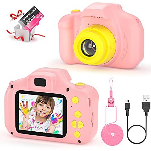 vatenick Kinder Digital Kamera Spielzeug Kleinkind Kamera Spielzeug 2 Zoll HD-Bildschirm 1080P 32 GB TF-Karte...
