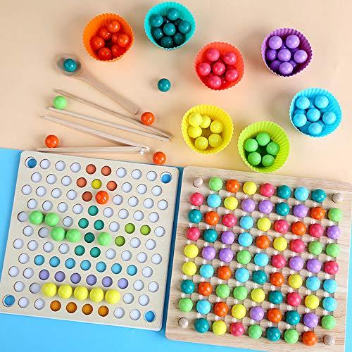 Kinder Spielzeug Montessori Holz Spielzeug Hände Gehirn Training Clip Perlen Puzzle Board Math Game Baby...