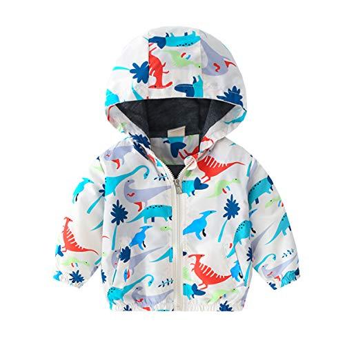 Kinder Jacken Windjacke Übergangsjack Kinderbekleidung niedliches mit Kapuzen Dinosaurier Kapuzen Zip Mantel...