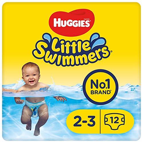 Huggies Little Swimmers Einweg-Schwimmwindeln für Babys und Kinder, Größe 2-3 (3-8 kg), 12 Bade-Windeln,...