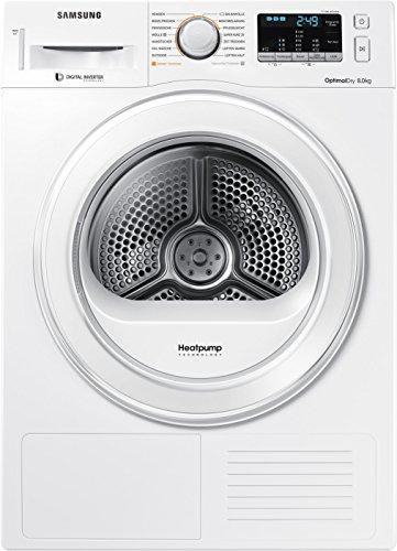 Samsung DV80M5210IW/EG Wärmepumpentrockner/8kg/60 cm Höhe/Kondenswasserstandsanzeige/Kurzprogramm/Alarm...