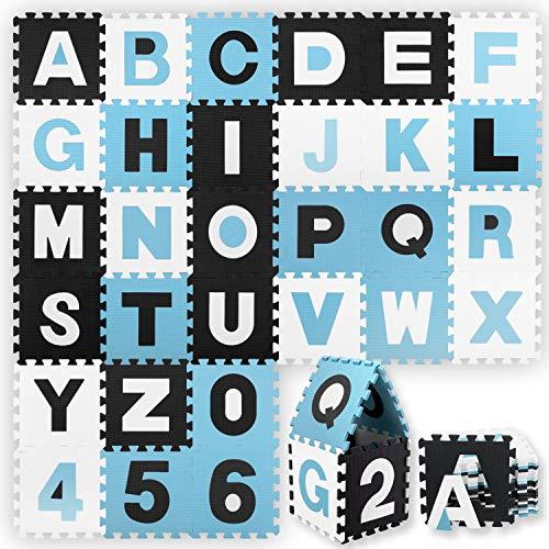 KIDIZ® 86 teilige Puzzlematte Kinderspielteppich Spielmatte Spielteppich Schaumstoffmatte Kinderteppich,...