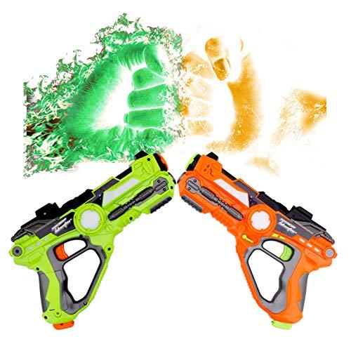 WISHTIME Laser Tag Battle Pistole Spielzeug ZM17037 Multiplayer Battle Schießen Spiel Aktive Spielzeug Gun...