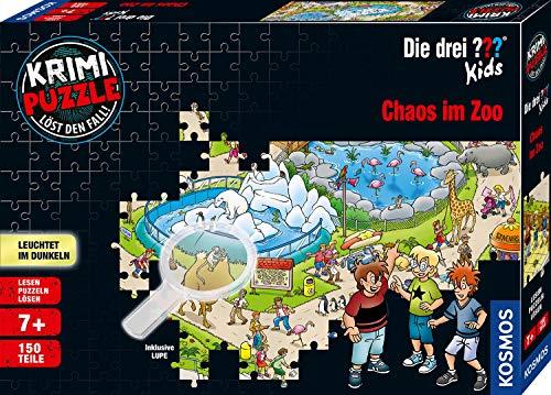 Kosmos 697990 - Krimi Puzzle: Die drei ??? Kids - Chaos im Zoo, Leuchtet im Dunkeln. 150 Teile, inkl. kleine...
