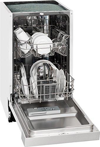 Exquisit Einbau-Geschirrspüler EGSP 1009 E/B   Teilintegriert, Einbaugerät   9 Maßgedecke   Weiß
