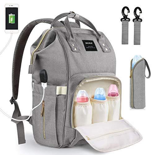 Baby Wickeltasche Wickelrucksack, mit USB-Lade Port Kinderwagen-haken Isolierte Tasche für Unterwegs, Große...